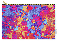 Red And Blue Pansies Pop Art Carry-all Pouch