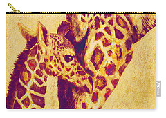 Red And Gold Giraffes Carry-all Pouch