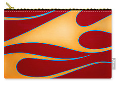 Carry-all Pouch featuring the photograph Red And Gold by Joe Kozlowski
