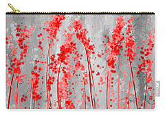 Red And Gray Art Carry-all Pouch by Lourry Legarde