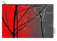 Red And Gray Carry-all Pouch by Cynthia Guinn