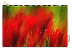 Red And Green Carry-all Pouch by Lourry Legarde