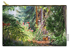 Carry-all Pouch featuring the painting Poppies Season In The Garden  by Irina Sztukowski
