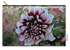 Red And White Dahlia  Carry-all Pouch