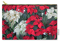 Red And White Poinsettias Carry-all Pouch