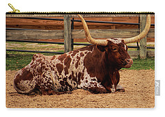 Red And White Texas Longhorn Carry-all Pouch