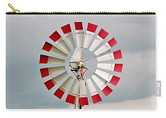 Carry-all Pouch featuring the photograph Red And White Windmill by Cynthia Guinn
