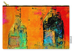 Carry-all Pouch featuring the painting Red And White Wine by Lisa Kaiser