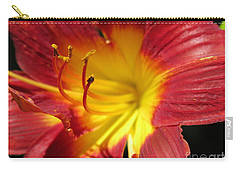 Red And Yellow Day Lily Carry-all Pouch