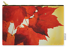 Red And Yellow Carry-all Pouch