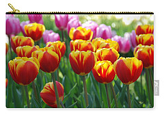 Carry-all Pouch featuring the photograph Red And Yellow Tulips  by Allen Beatty
