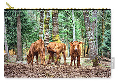 Red Angus Calves Carry-all Pouch