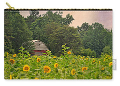 Red Barn Among The Sunflowers Carry-all Pouch