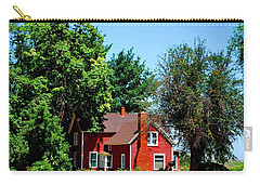 Carry-all Pouch featuring the photograph Red Barn And Trees by Matt Harang