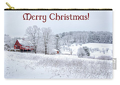 Red Barn Christmas Card Carry-all Pouch