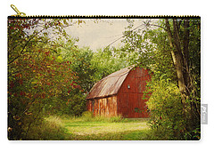 Red Barn In The Woods Carry-all Pouch