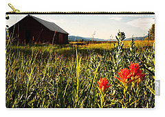 Carry-all Pouch featuring the photograph Red Barn by Meghan at FireBonnet Art