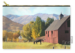 Carry-all Pouch featuring the painting Red Barn by Rob Corsetti