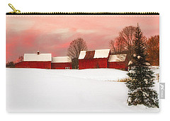 Red Barn Sunset Carry-all Pouch by John Vose