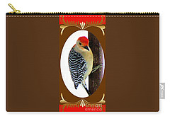 Carry-all Pouch featuring the photograph Red-bellied Woodpecker Framed by Janette Boyd