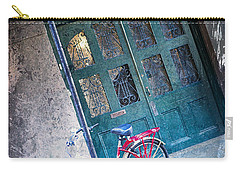 Carry-all Pouch featuring the digital art Red Bike by Erika Weber