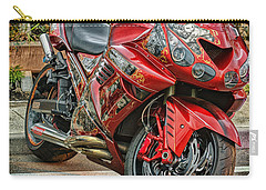 Red Bike Carry-all Pouch