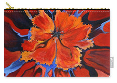 Red Bloom Carry-all Pouch by Alison Caltrider