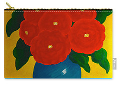 Red Bouquet Carry-all Pouch by Anita Lewis