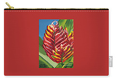 Red Bromeliad Carry-all Pouch