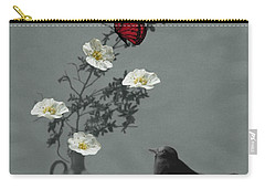 Red Butterfly In The Eyes Of The Blackbird Carry-all Pouch