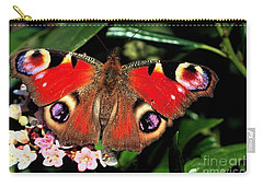 Red Butterfly In The Garden Carry-all Pouch