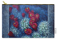 Carry-all Pouch featuring the painting Red Cactus by Rob Corsetti
