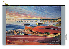 Red Canoe Sunset Carry-all Pouch
