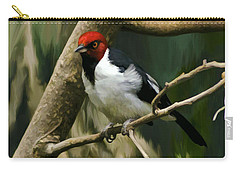 Red-capped Cardinal Carry-all Pouch by Adam Olsen