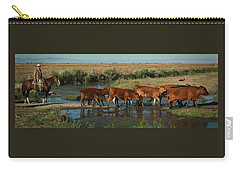 Red Cattle Carry-all Pouch by Diane Bohna