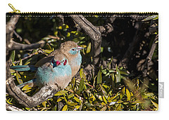 Red Cheeked Cordon Blue Finches Carry-all Pouch