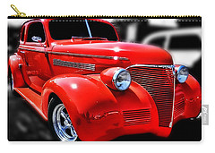 Red Chevy Hot Rod Carry-all Pouch by Victor Montgomery