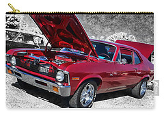 Red Chevy Nova Carry-all Pouch by Victor Montgomery