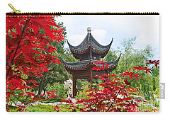 Red - Chinese Garden With Pagoda And Lake. Carry-all Pouch