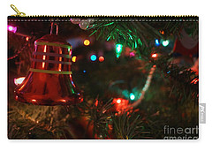 Red Christmas Bell Carry-all Pouch by Kerri Mortenson