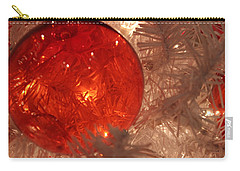 Carry-all Pouch featuring the photograph Red Christmas Ornament by Lynn Sprowl
