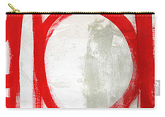 Red Circle 3- Abstract Painting Carry-all Pouch