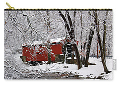 Red Covered Bridge Winter 2013 Carry-all Pouch