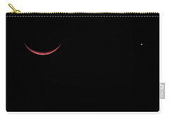 Red Crescent Moon And Venus Carry-all Pouch