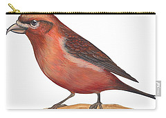Red Crossbill Carry-all Pouch by Anonymous