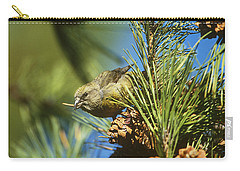 Red Crossbill Eating Cone Seeds Carry-all Pouch