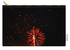 Carry-all Pouch featuring the photograph Red Dahlia by Amar Sheow