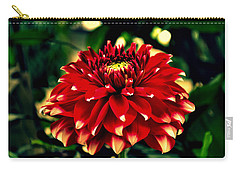 Red Dahlia Carry-all Pouch by Salman Ravish