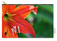 Carry-all Pouch featuring the photograph Red Daylily In Hawaii by Lehua Pekelo-Stearns
