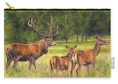 Red Deer Family Carry-all Pouch